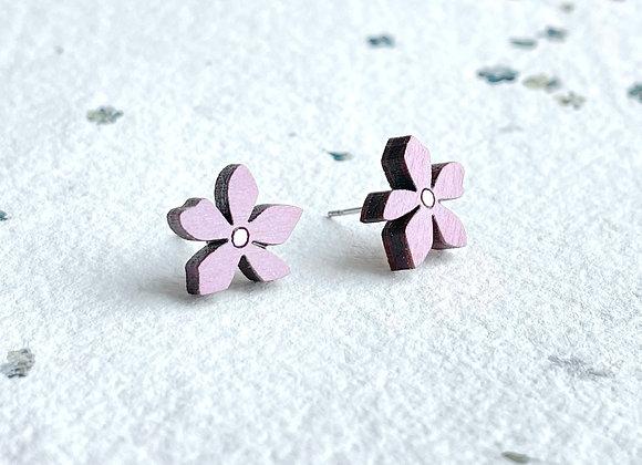 Květinové náušnice / pastelová lila