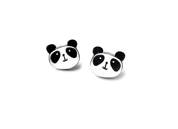 Náušnice pandí hlavička