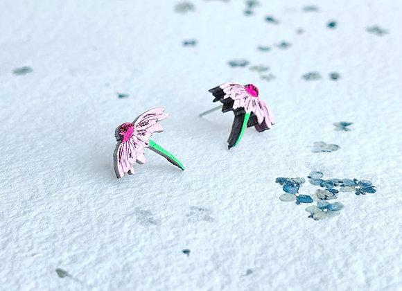 Náušnice echinacea / třapatka