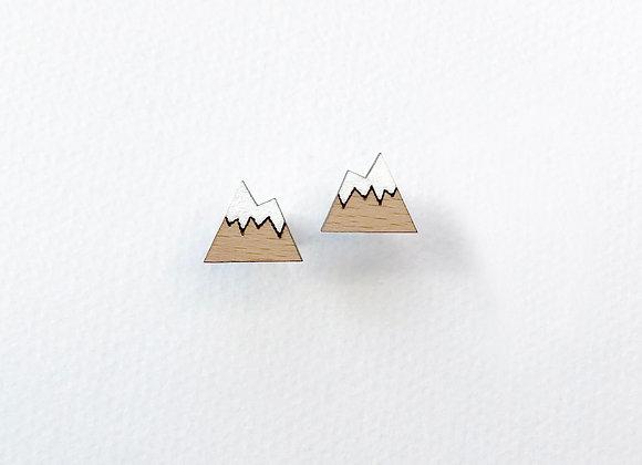 Náušnice hory přírodní / bílá