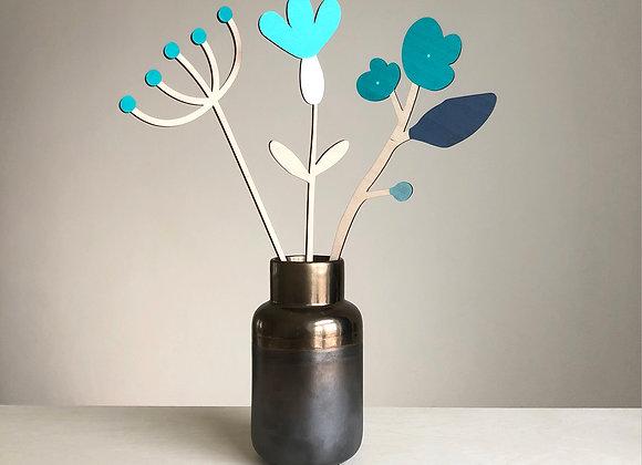 Sada dřevěných květin VIII.
