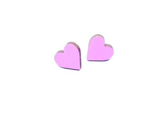 Náušnice srdce lila