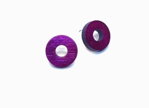 Náušnice kruhy fialovorůžová