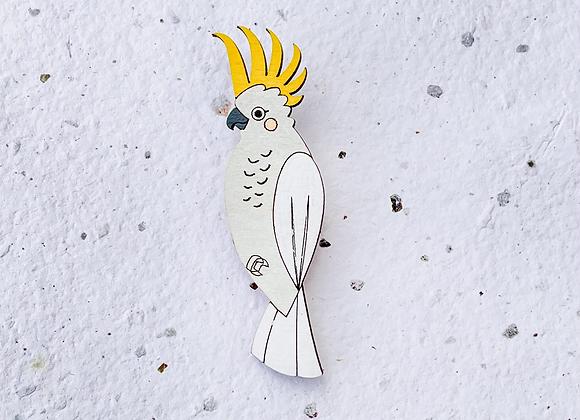 Brož papoušek Kakadu