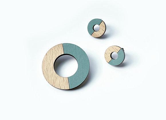 Souprava brož + kruhové náušnice