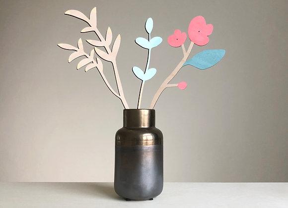 Sada dřevěných květin VII.