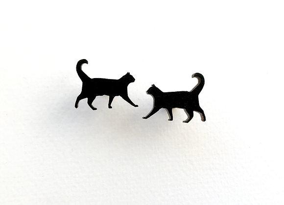 Náušnice černé kočky