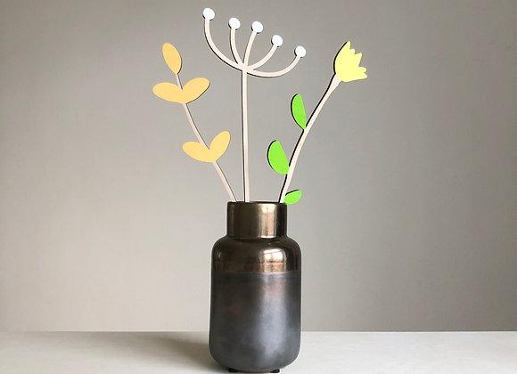 Sada dřevěných květin IV.