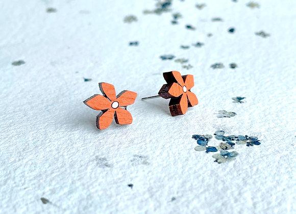 Květinové náušnice / oranžová