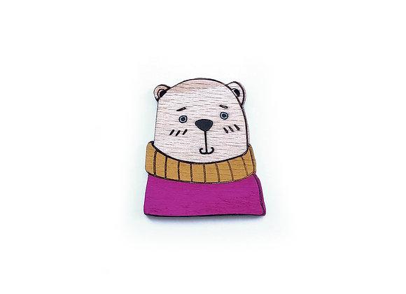 Brož medvěd ve svetru