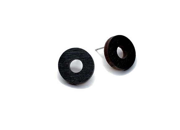 Náušnice kruhy černá
