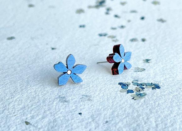 Květinové náušnice / pomněnková modrá