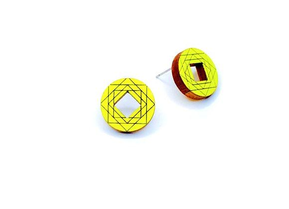 Náušnice kruhy neonová žlutá