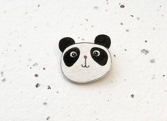Dřevěná brož panda