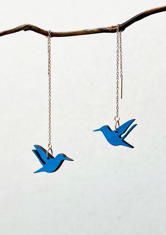náušnice kolibříci