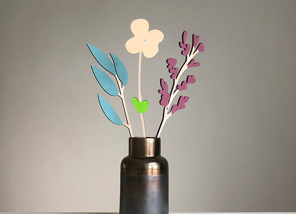 Sada dřevěných květin II.