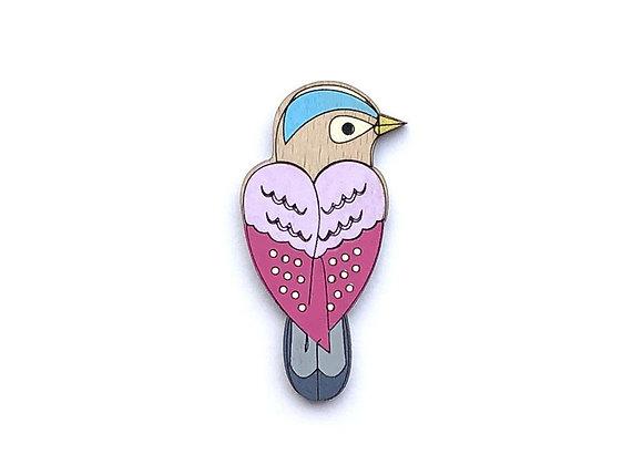 Brož ptáček barevný