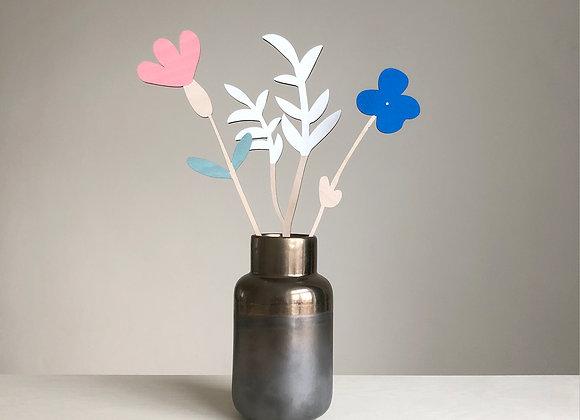 Sada dřevěných květin V.