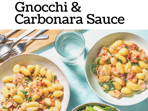 Homemade Gnocchi & Carbonara Sauce Kit