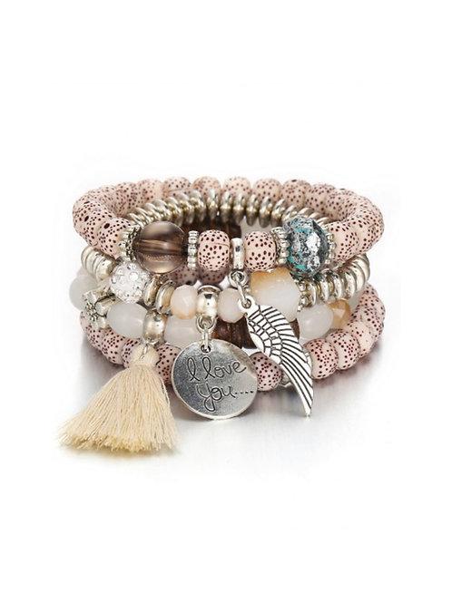 Bohemian Beaded Bracelet Set