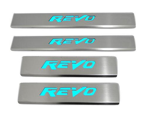 Hilux Revo Aluminium Door Sill Plate w/ LED Light