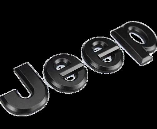 Jeep Metal Logo - Matte Black