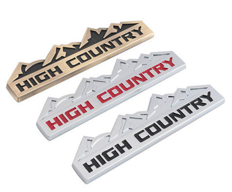 High County Metal Badge