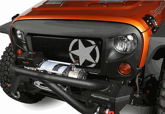 Spartan Grille Insert with White Star