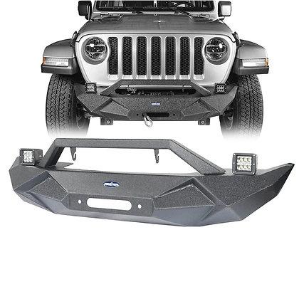 AL Stubby Front Bumper w/ LED for JK