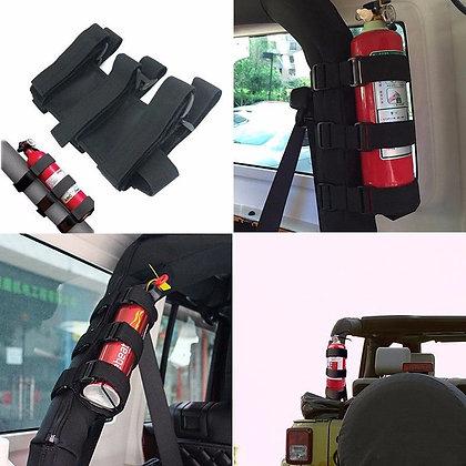 Roll bar extingusher holder