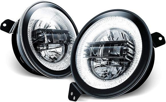 "JL/JT 9"" Diamond LED Headlight"