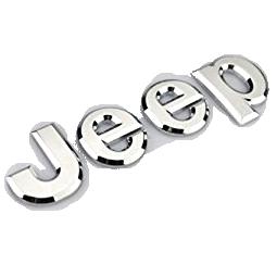 Jeep Metal Logo - Chrome Metal