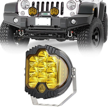 """7"""" Amber Off-Road 90W Cree LED Work  Light - Pair"""