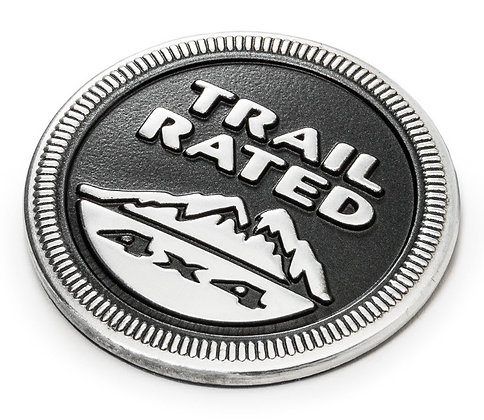 Jeep Trail Rated Metal Emblem Badge