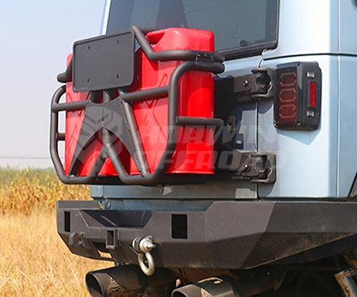 Jerry Can Bracket with Two Jerry Cans