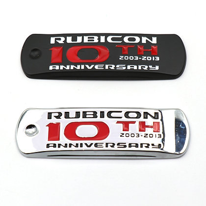 Rubicon 10th Anniversary Metal Badge