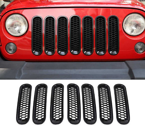 JK Front Grille Honeycomb Cover Insert Mesh w/o lock hole
