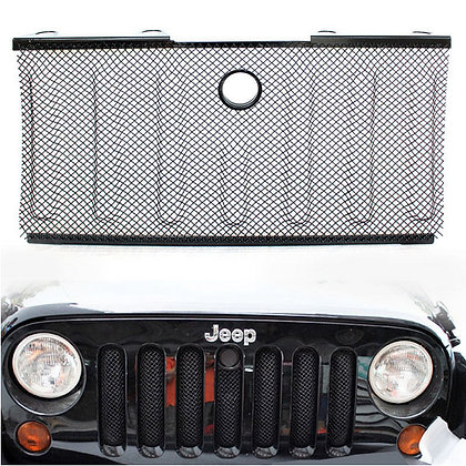 JK OE Grill Bug Screen 3D Mesh - Black