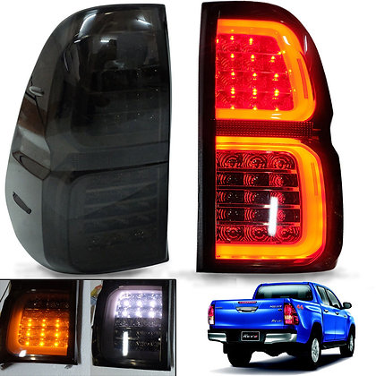 Toyota Hilux Revo LED Tail Light 2015-On Smoke Lens