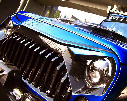 TF Fury Grille Glossy Black with Mesh