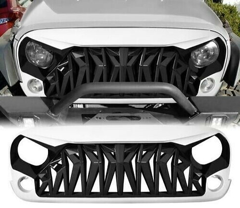Mustang Grill Glossy White Black