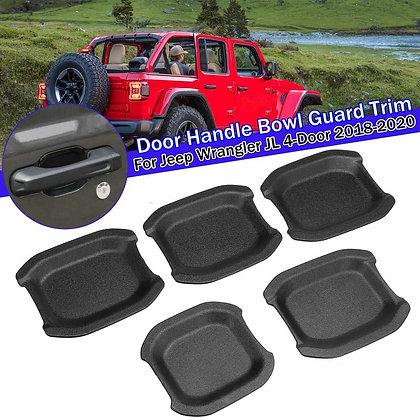 JL 4-Door Matte Black ABS Car Exterior Door Handle Bowl Cover