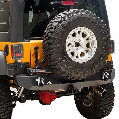 Paramount JK Stubby Rear Bumper W/ Secure Lock Tire Carrier