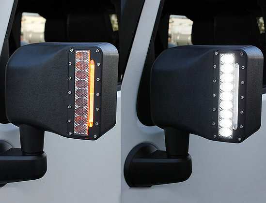 Side Mirror cover with LED DRL & Indicators