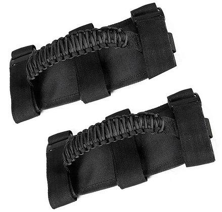 Roll bar nylon strap grab handle (Black)- pair