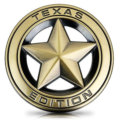 TEXAS STAR Metal Badge