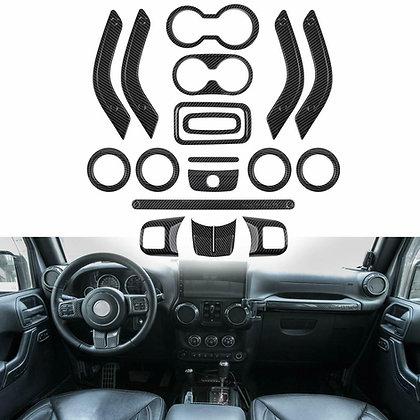 Full Set Interior Decoration Trim Kit For Jeep Wrangler JK 2011-2018 4Dr