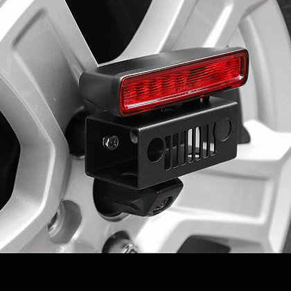 JL High 3rd Brake Light Bracket on Spare Tire