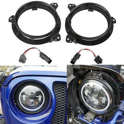7inch Led Headlights Mounting Bracket Ring & Harness for JL