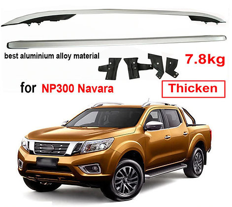 Nissan Navara Screw-on Roof Racks - Aluminium